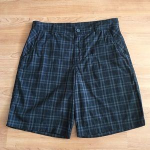 "Lululemon 11"" kahuna shorts in dark Plaids"